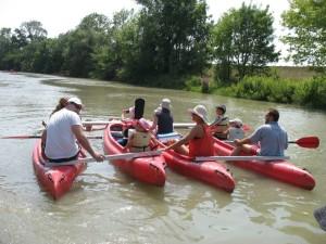 Zážitkový minisplav Malého Dunaja rodičov s deťmi